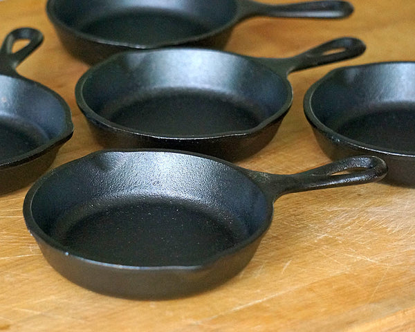 Mini Cast Iron Skillet - 5 Inch (set of 4)