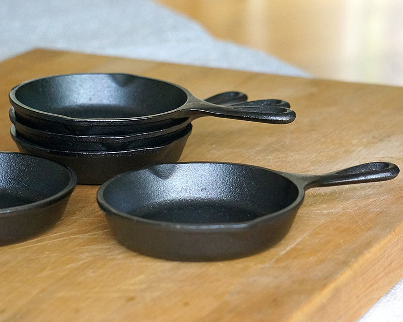 5 inch mini cast iron skillets