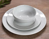 Pillivuyt White Dinner Plate, Salad Plate and Cereal Bowl Stacked