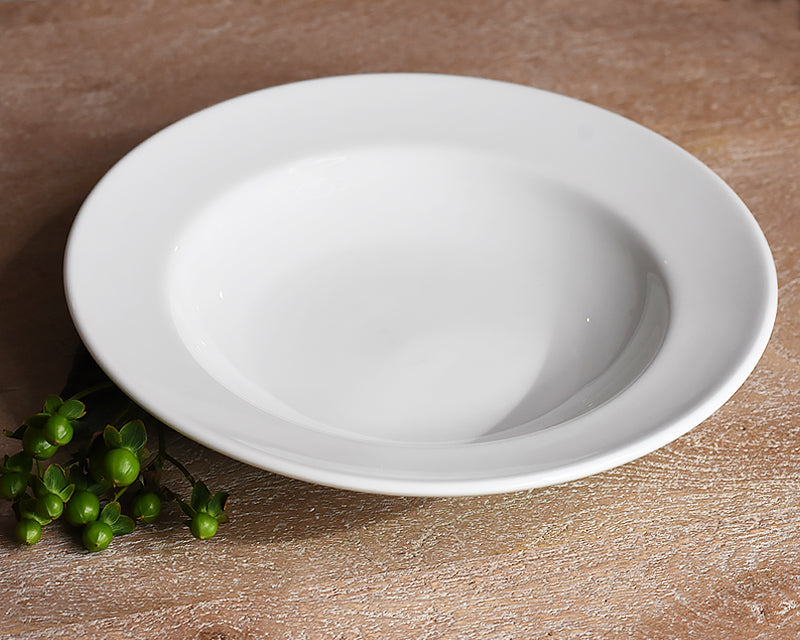 White Pillivuyt soup bowl