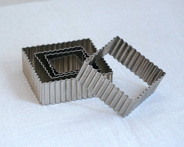 Fluted Square Cutter Set - 5pc
