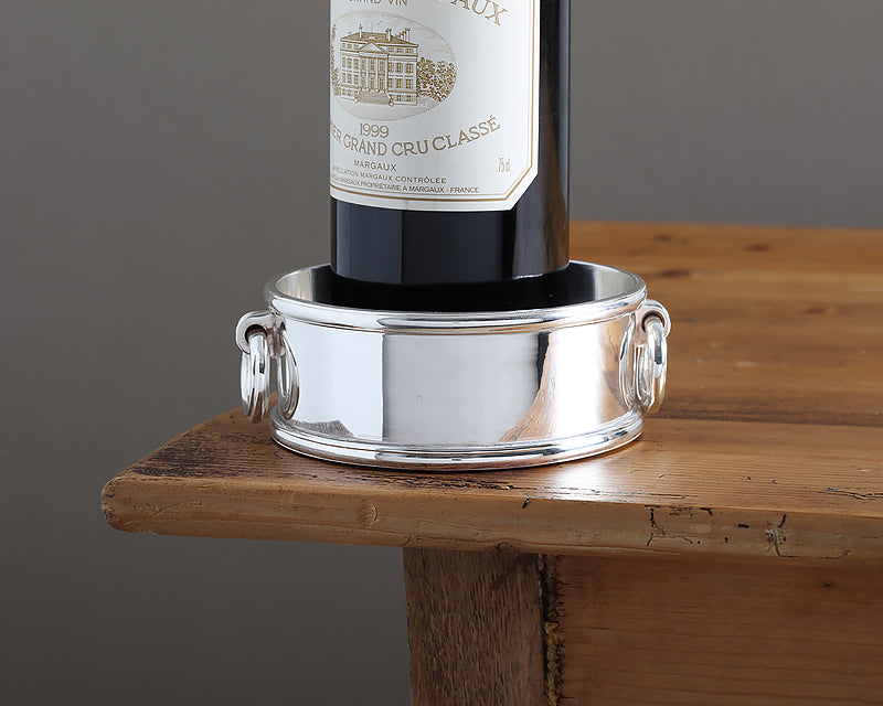 HÔTEL Silver Wine Bottle Coaster from the new Hôtel Private Label Collection
