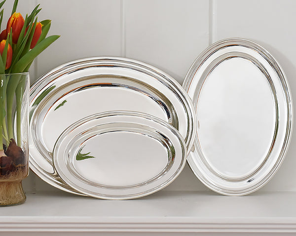 HOTEL Silver Oval Tray available in 3 sizes