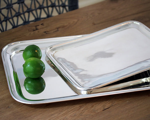 HÔTEL Silver Rectangular Tray