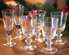 La Rochere Antoine Champagne Flute, Wine Glass, and Water Glass pairs lined up