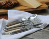 Laguiole flatware set on a linen napkin
