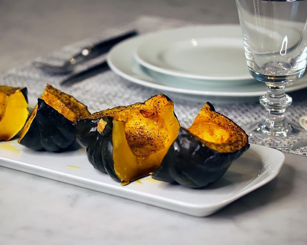 Roasted squash on the Narrow Platter by Pillivuyt