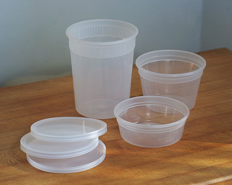 Clear Plastic Containers in variety of sizes used by Ina Garten