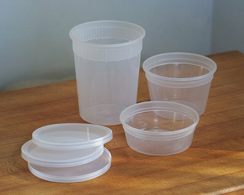 Clear Plastic Containers (set of 5)