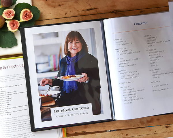 The Personal Recipe File is the best way to store the new barefoot Contessa Recipe Index. Just download, print and insert.
