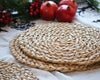 Natural Round Placemat - 4pc Set