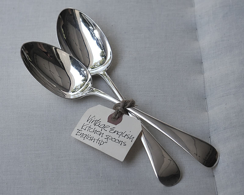 HÔTEL Vintage English Kitchen Spoons - Set of 2