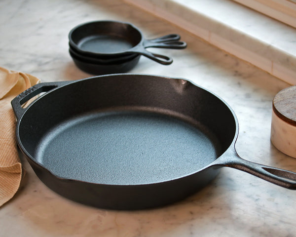12-Inch Cast Iron Skillet on a counter top