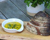 Spoon Rest doubles as a perfect sized plate for dipping olive oil.