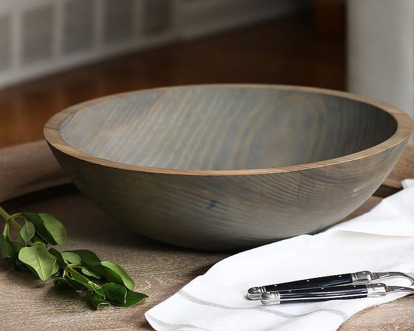 Round Wooden Salad Bowl