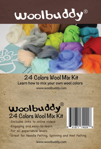 Woolbuddy Needle Felting Wool Roving, Beautiful Felting Wool, Instruction Teach You How to Mix Color- Great for Arts & Crafts & Easy...