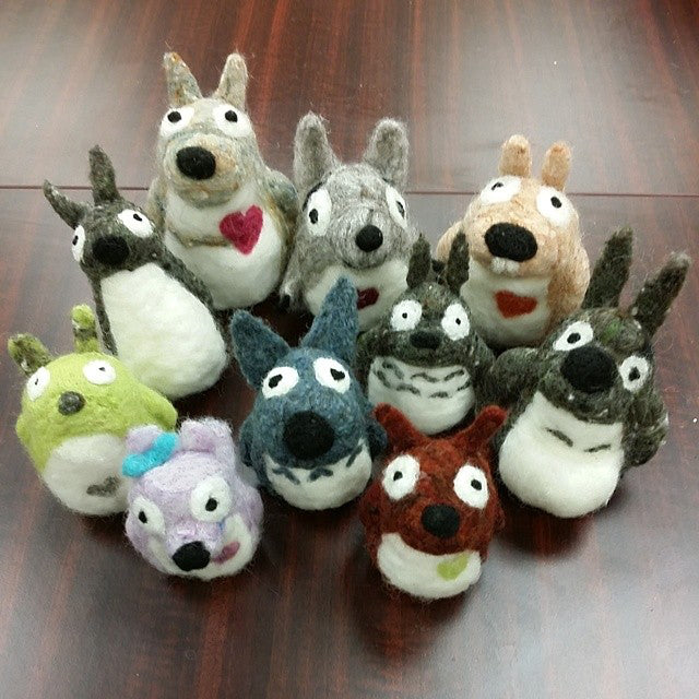 Needle Felting Totoro class with Woolbuddy(Zoom)