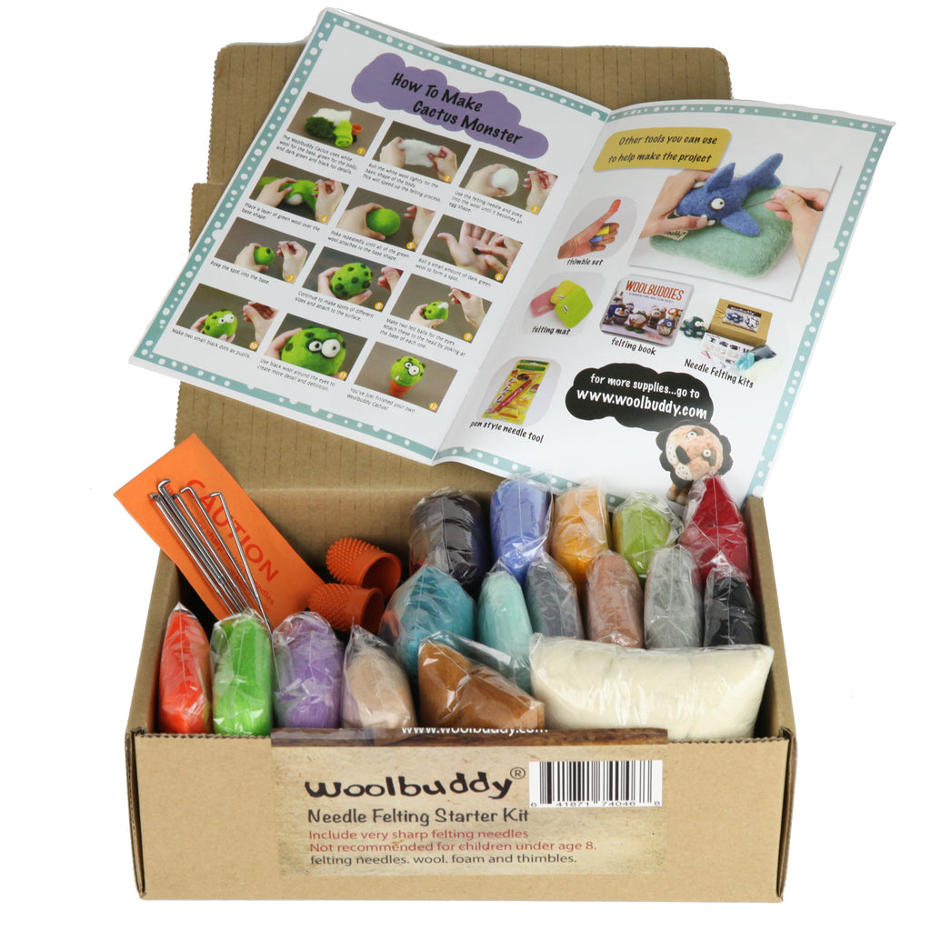 Needle Felting Starter Kit Great for Arts & Crafts, Decorations, Ornaments & Easy for Beginners