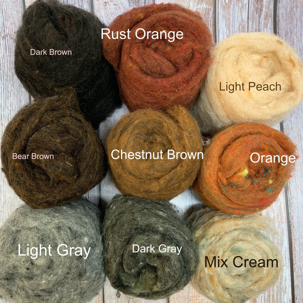 Felting wool ---- Fall color