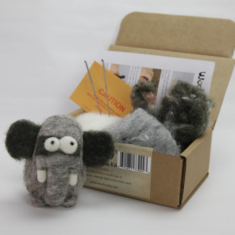 Needle Felting Elephant Kit (K)
