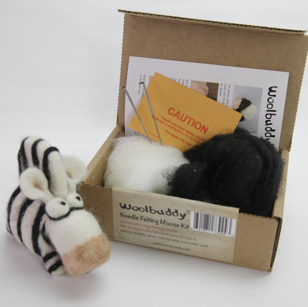 Needle Felting Zebra Kit