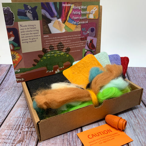 Flat Felting kit ( painting with wool)