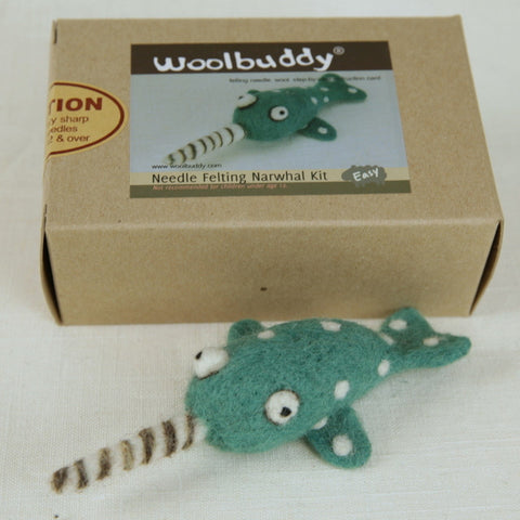 Needle Felting Narwhal Kit