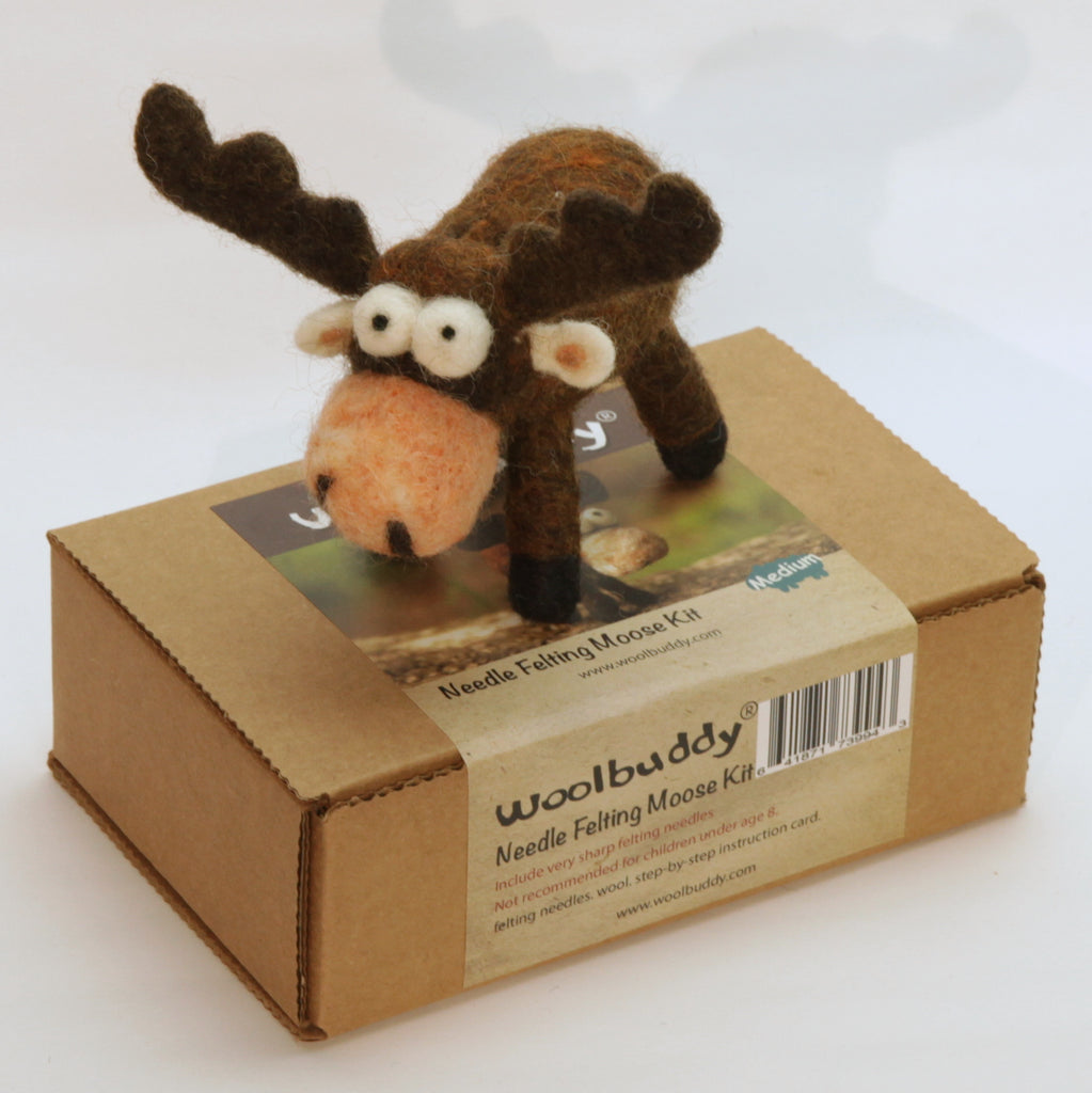 Needle Felting Moose Kit