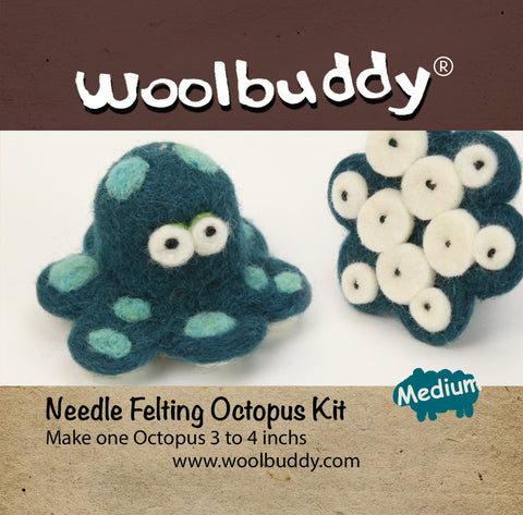 Needle Felting Octopus Kit (K)