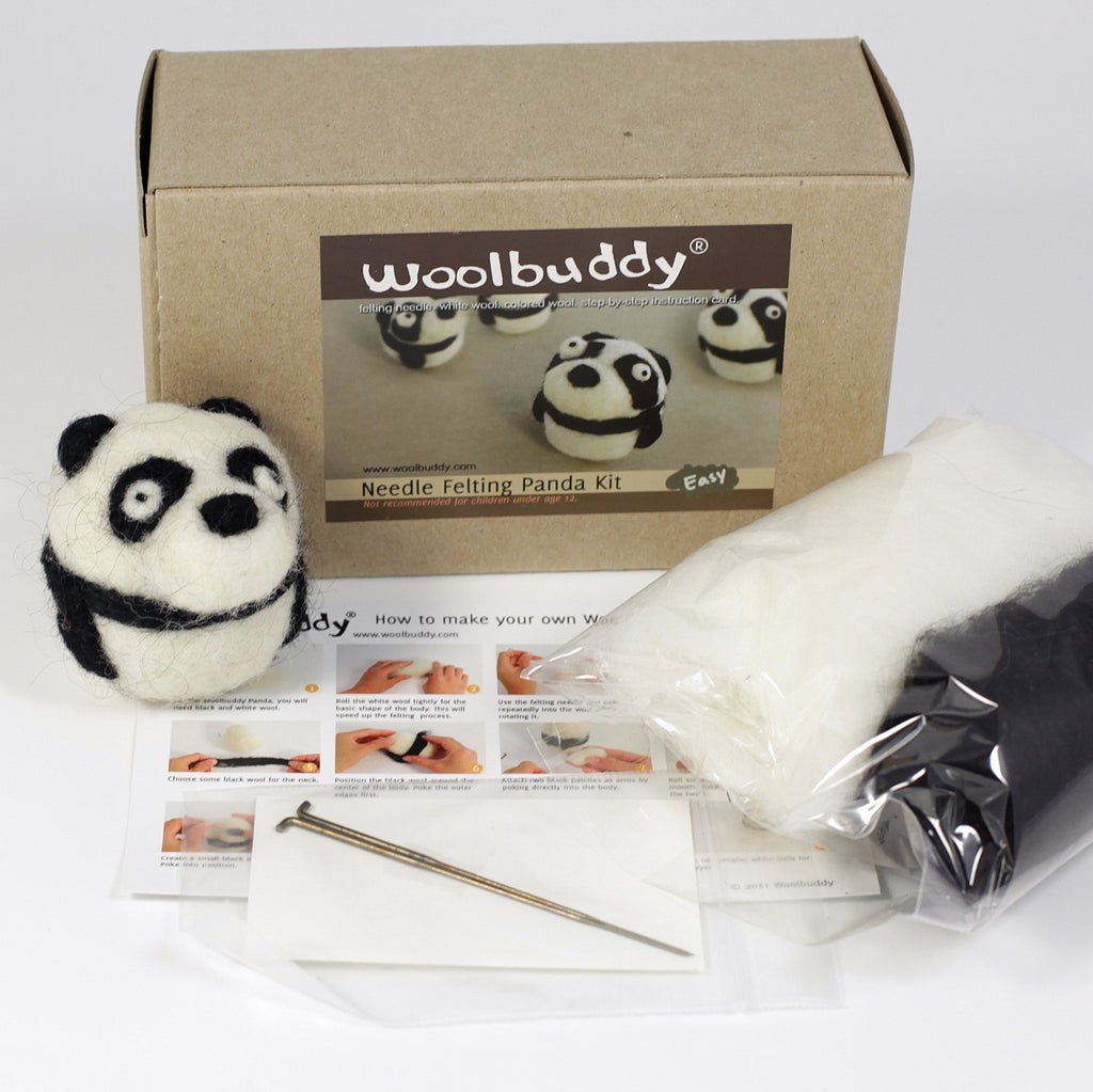 Needle Felting Panda Kit (K)