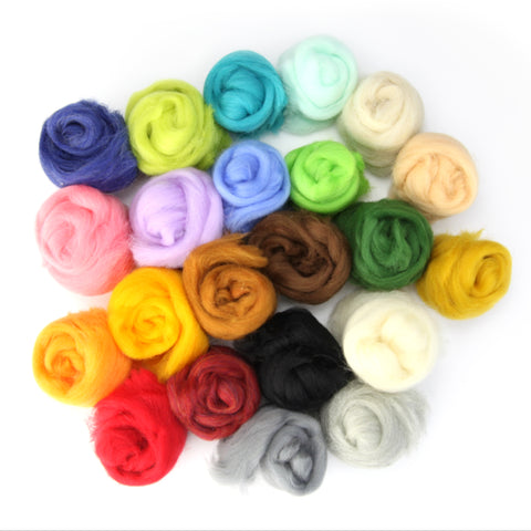 Felting Wool 1/2 lb (22 colors)