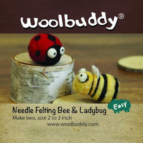 Needle Felting Bee & Ladybug kit