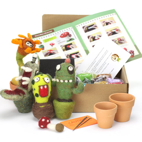 Needle Felting Cactus Monster Kit (K)