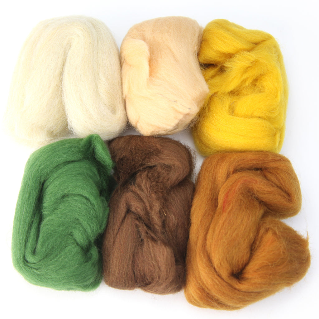 Needle Felting Wool 2 oz (color: Fall)