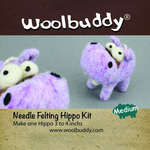 Needle Felting Hippo Kit