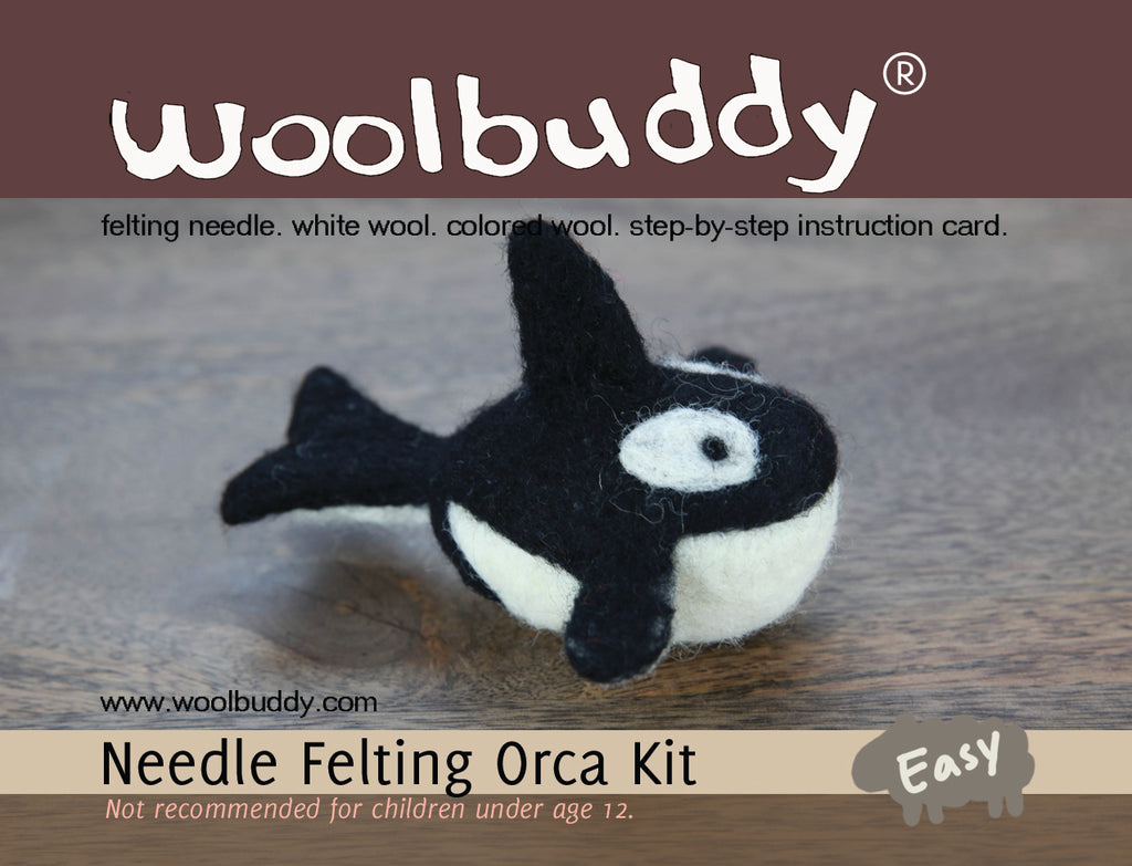Needle Felting Orca Kit (K) - Woolbuddy