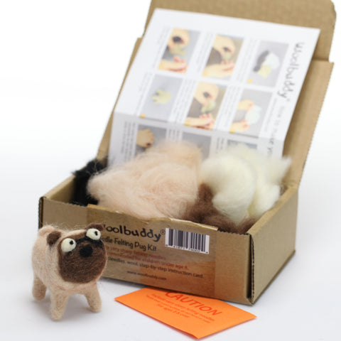 Needle Felting Pug Kit