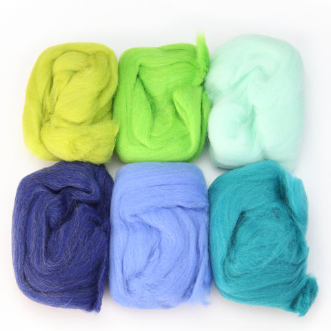 Needle Felting Wool 2 oz (color: Spring)