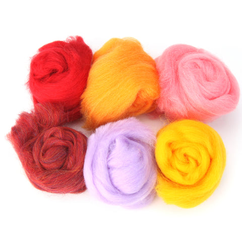 Needle Felting Wool 2 oz (color: Summer)
