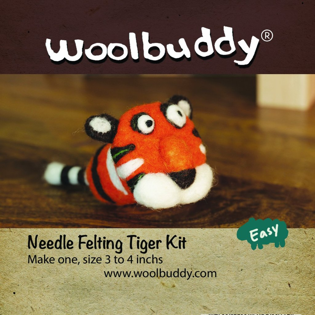 Needle Felting Tiger Kit