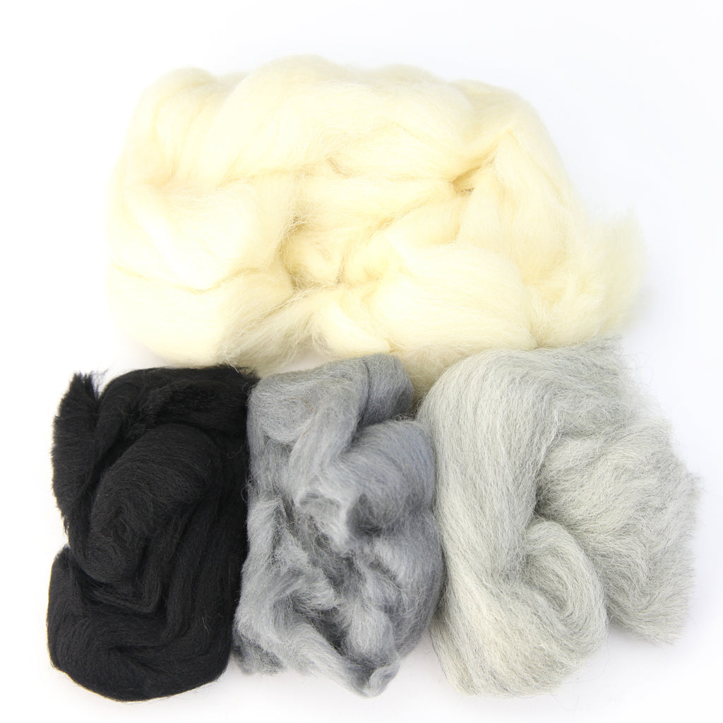 Needle Felting Wool 2 oz (color: Winter)