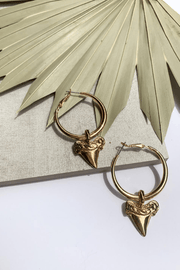 Shark Tooth Dangle Earring