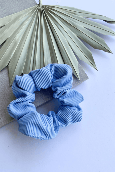Periwinkle Ribbed Scrunchie