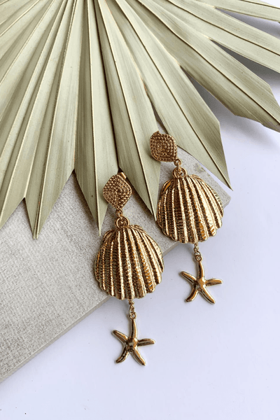 Life's A Beach Shell Earrings