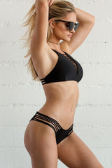 Newport Bottom - Jet Black-Bottoms-Beach Babe Swimwear