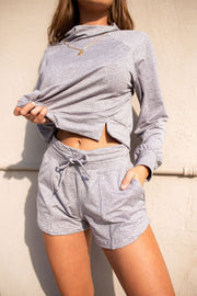 Wild and Free Shortie - Heather Grey