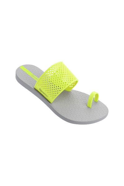 Ipanema Gadot Slide - Grey/Neon Yellow