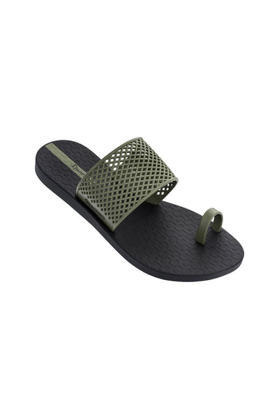 Ipanema Gadot Slide - Black/Olive