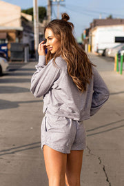 Wild and Free Heather Grey Pullover