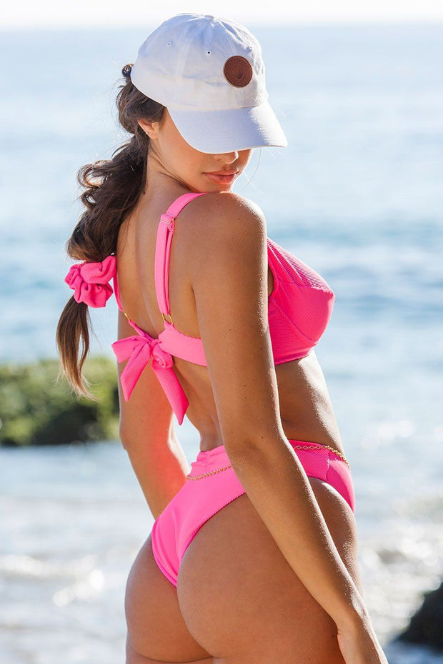 High Tide Fuchsia Bikini Bottom